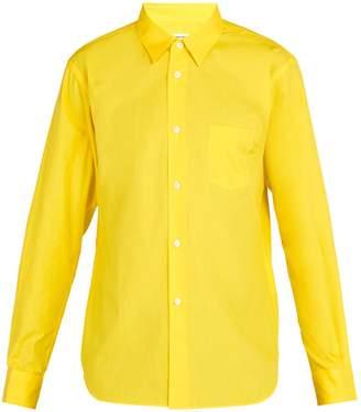 Comme des Garcons Logo cotton-poplin shirt