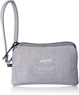 Anello (アネロ) - [アネロ] パスポーチ 高密度杢調ポリ リール付パスポーチ AU-H1159 GY グレー