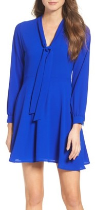 Women's Mary & Mabel Tie Neck Dress $108 thestylecure.com