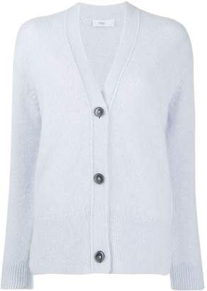 Closed knitted button-up cardigan