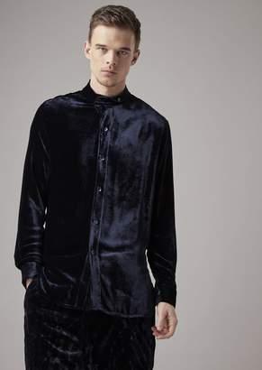 Giorgio Armani Regular-Fit, Guru Collar Shirt In Exclusive Fabric