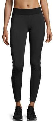 Blanc Noir Desire Mesh-Arrow Performance Leggings, Black
