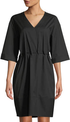Lafayette 148 New York Elora V-Neck Tie-Waist Dress