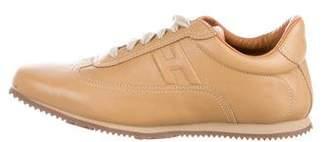 Hermes Leather Logo Sneakers