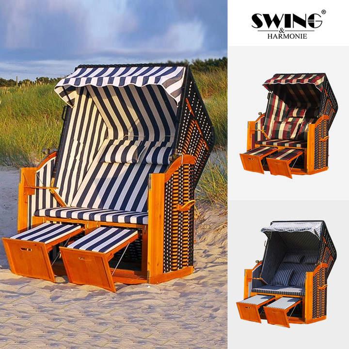 Swing&Harmonie Luxus-Strandkorb Rügen