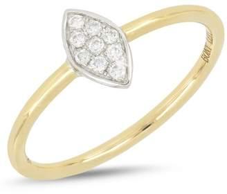 Bony Levy 18K White & Yellow Gold Diamond Detail Marquise Ring