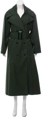 Oscar de la Renta Double-Breasted Trench Coat