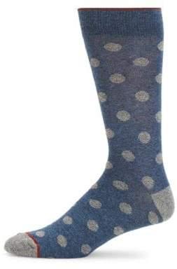 Large Dot Crew Socks