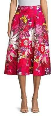 Trina Turk Found in Translation Floral Midi Skirt