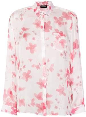 Emporio Armani floral print shirt