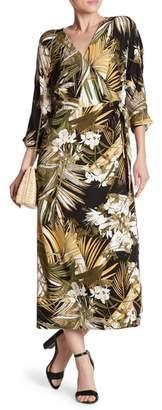 Dress Forum Printed Maxi Wrap Dress