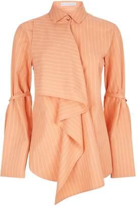 Palmer Harding Palmer/Harding Ruffle Striped Shirt