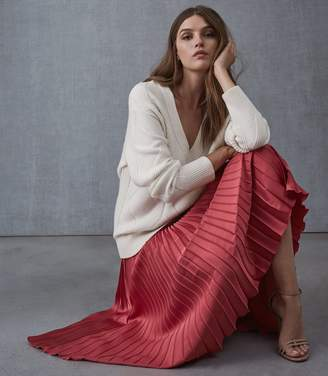 Reiss Isidora Pleated Midi Skirt
