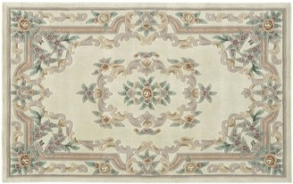 Blue Area Rugs America New Aubusson Framed Floral Wool Rug