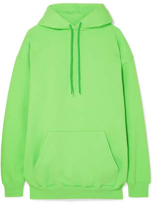 Balenciaga Oversized Cotton-blend Jersey Hooded Top - Green