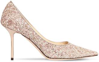Jimmy Choo 85mm Love Glittered Pumps