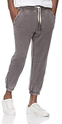Rebel Canyon Young Men's Super Soft Fleece Cropped Jogger Sweatpant with Vintage Wash