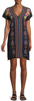 Johnny Was Vella Easy Knit Short-Sleeve Tunic Dress , Plus Size
