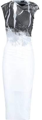 Ann Demeulemeester Printed Stretch-knit Midi Dress