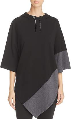 Andrew Marc Performance Color Block Hooded Poncho