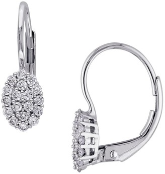 Sonatina 14K White Gold & Diamond Leverback Earrings