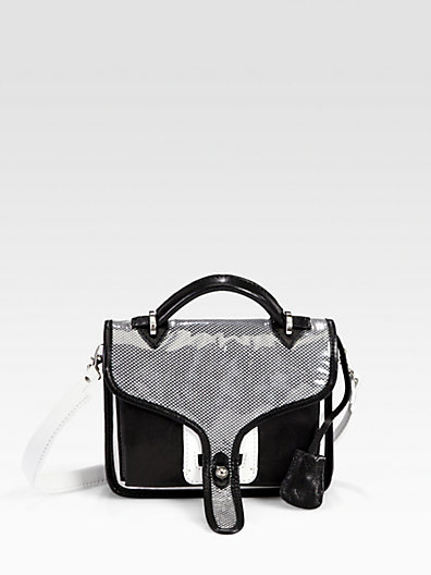 Opening Ceremony Leather Small Top Handle Bag
