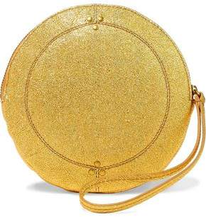 Jerome Dreyfuss Metallic Textured-Leather Clutch