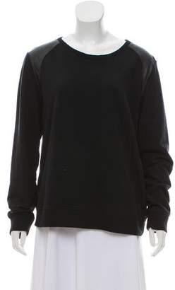 Vince Paneled Pullover Sweatshirt