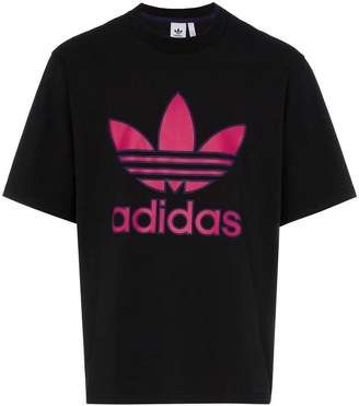 adidas logo print cotton t-shirt