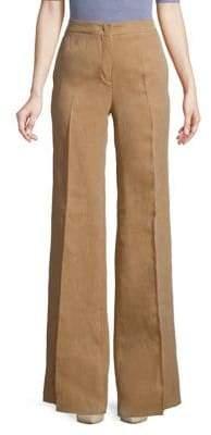 Max Mara Flared Linen Pants