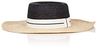 Barneys New York WOMEN'S TWO-TONED STRAW HAT