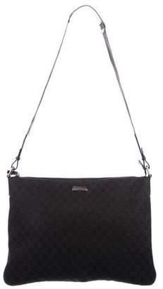 Gucci Large GG Denim Messenger Bag