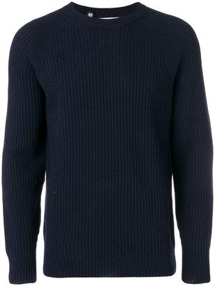 Closed ribbed jumper