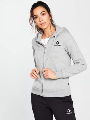 Converse Star Chevron Full Zip Hoodie - Grey