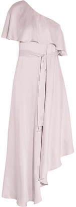 Zimmermann - One-shoulder Ruffled Silk Midi Dress - Lilac $630 thestylecure.com