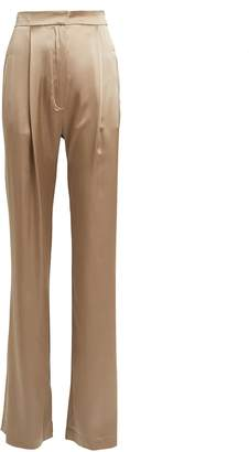 SABLYN Sable Silk Wide-Leg Trousers