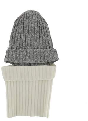 Sansovino 6 Grey And White Wool Hat
