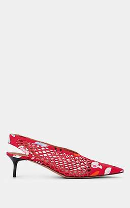 Altuzarra Women's Peppino Silk Slingback Pumps - Pink