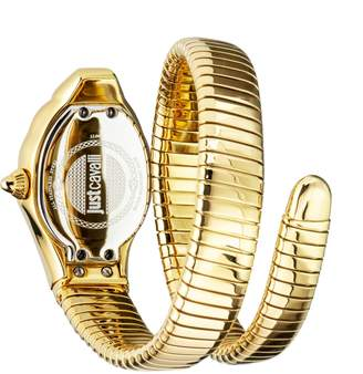 Just Cavalli Goldtone Stainless Steel Snake Wrap Cuff Watch
