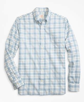 Brooks Brothers Plaid Summer Twill Sport Shirt