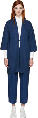 Blue Blue Japan Indigo Hanten Coat $415 thestylecure.com