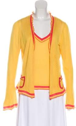 Oscar de la Renta Cashmere Cardigan Set Yellow Cashmere Cardigan Set