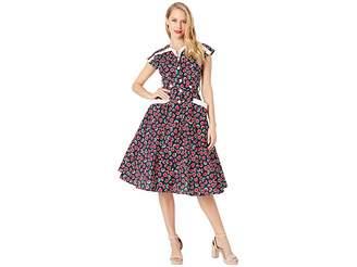 Unique Vintage 1950s Style Cap Sleeve Hedda Swing Dress