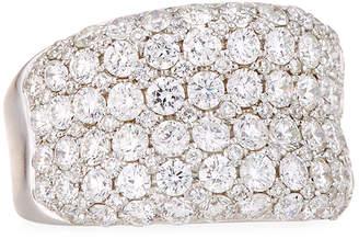 Diana M. Jewels 18k White Gold Diamond Fashion Ring, Size 6