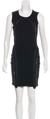 Haute Hippie Embellished Bodycon Dress