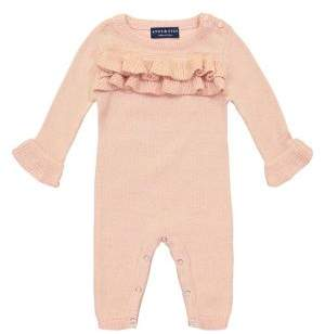 Andy & Evan Baby Girl's Ruffled Coveralls