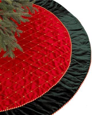 Holiday Lane Red & Green Velvet Christmas Tree Skirt