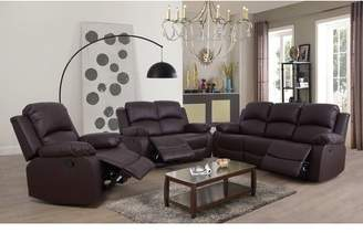 Winston Porter Faucher Reclining 3 Piece Living Room Set