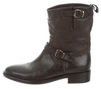Belstaff Leather Ankle Boots $175 thestylecure.com