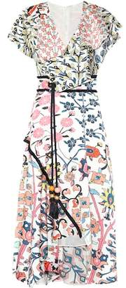 Peter Pilotto Floral-printed stretch silk dress